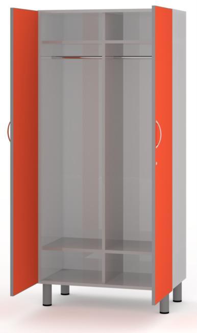 ha1205 armadio a 2 posti struttura metallica e frontali in bilaminato ...